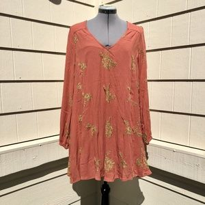 Free People Emma Embroidered Dress Size S
